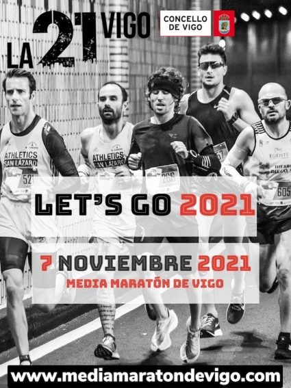 Cartel Media Maratón de Vigo 7 de noviembre 2021